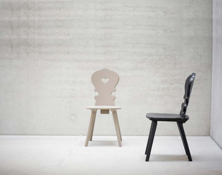 jan kurtz vienna herz stuhl mit herzausschnitt stuhl. Black Bedroom Furniture Sets. Home Design Ideas