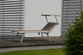 RIMINI CLASSIC Sonnenliege weiss/taupe
