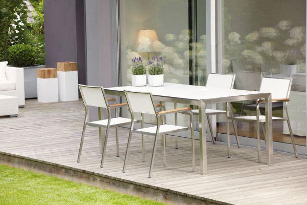 LUXURY Tisch mit hpl-Schichtstoffplatte 90 cm