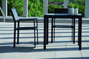 QUADRAT Tischplatte esg-glas 80x80x0,8 cm,schwarz