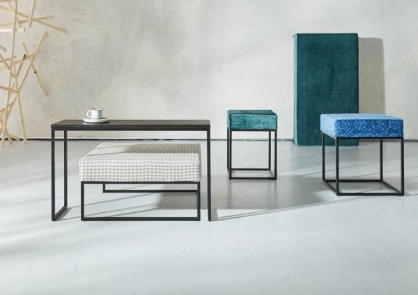 SIT´S COLLECTION Hocker/Beistelltisch (35 x 40 x 40 cm - individuell bezogen)