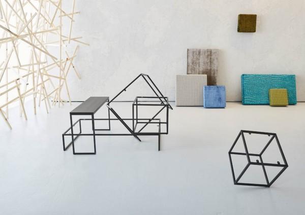 SIT´S COLLECTION Hocker/Beistelltisch (27 x 60 x 60cm - individuell bezogen)