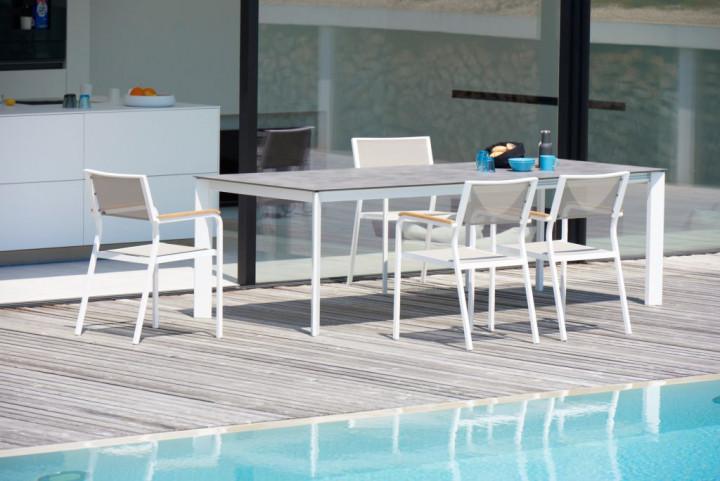 Sky, jankurtz, pulverbeschichteter Tisch aus aluminium, Tisch von ...