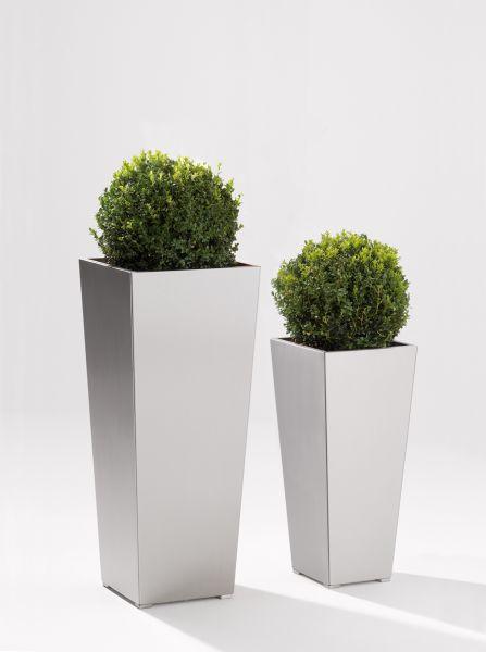 PLANTER Vase 33x33(unten)/45x45 cm (oben) verzinkt, pulverbeschichtet anthrazit