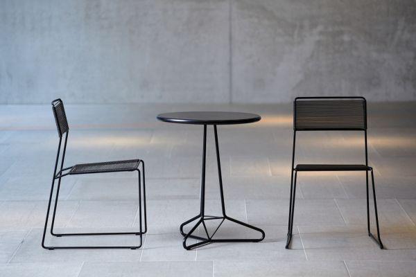 LOG Stuhl schwarz/grün