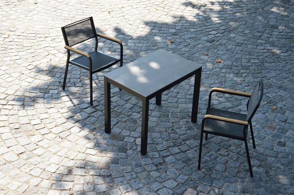 QUADRAT Tischgestell schwarz 90x90 cm