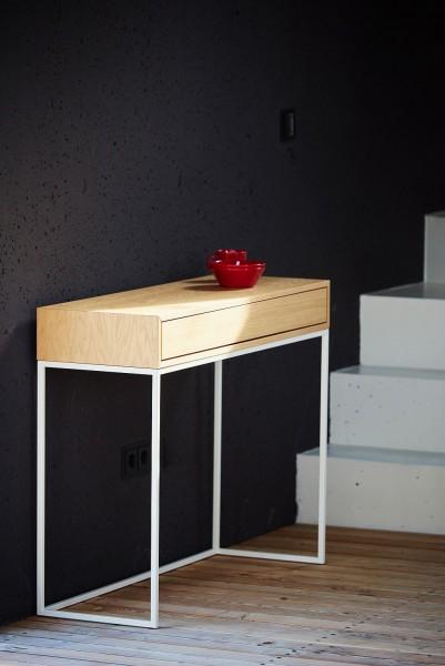 DINA Konsolentisch mit Schublade 100x34 cm