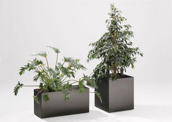 planter vase verzinkt pulverbeschichtet anthrazit outdoor zubeh r outdoor jan kurtz. Black Bedroom Furniture Sets. Home Design Ideas