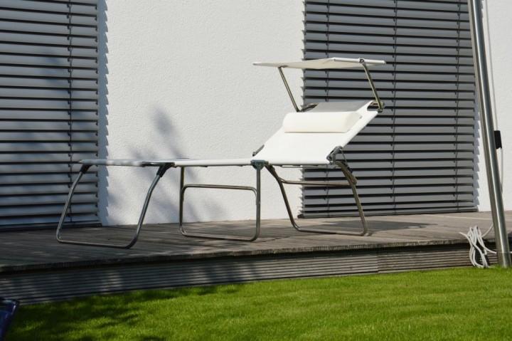 fiam amigo fourty sun dreibeinliege mit sonnendach sonnenliegen outdoor jan kurtz neuware. Black Bedroom Furniture Sets. Home Design Ideas