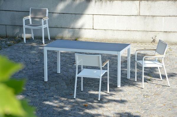 QUADRAT Tischgestell weiß 180x90 cm