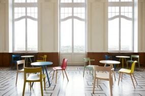 HAWELKA Stuhl mit Armlehne gelb-grün