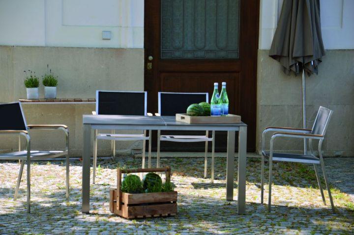 lux base tisch 2 platten gartentische outdoor jan kurtz neuware d4c m bel outlet. Black Bedroom Furniture Sets. Home Design Ideas