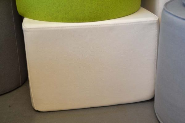 Pouf SITTING 50 Leder weiss