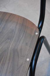 ZERO Stuhl schwarz/Nussbaum