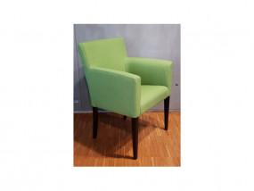 GUZZ Sessel Buche wengefarben/Stoff Corinto-Softy grün AKTIONSWARE