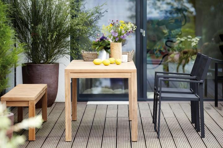 Samoa tisch 75x75x75 cm gartentische outdoor jan for Tisch outlet